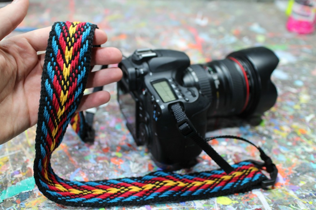 Handwoven Camera Strap in Primary Colors