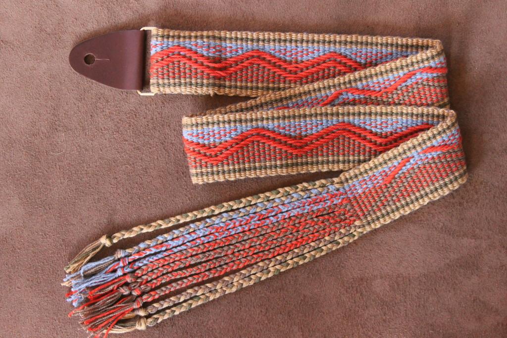 custom mandolin strap, handwoven mandolin strap, fancy mandolin strap, instrument strap, handmade mandolin strap
