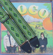 guitar strap, fancy guitar strap, woven guitar strap, green diamonds