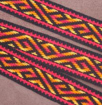 Handwoven Guitar Strap in Russian Pattern