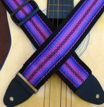 purple guitar strap