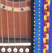 patterned guitar strap