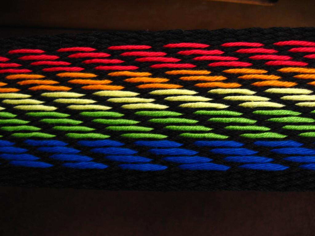 custom woven guitar strap