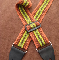 brown guitar strap