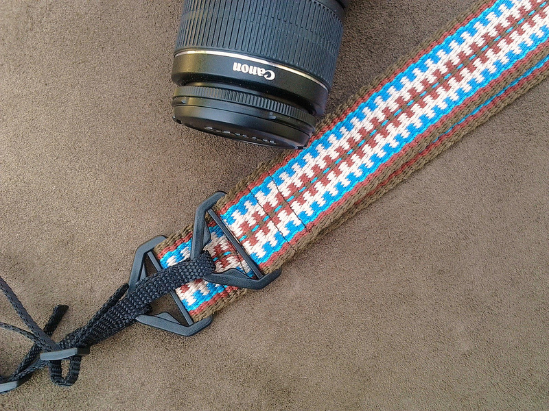 woven camera strap