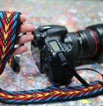 custom woven camera strap