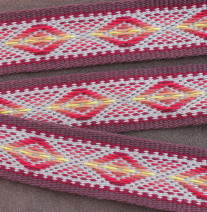 southwest diamond pattern guitar strap
