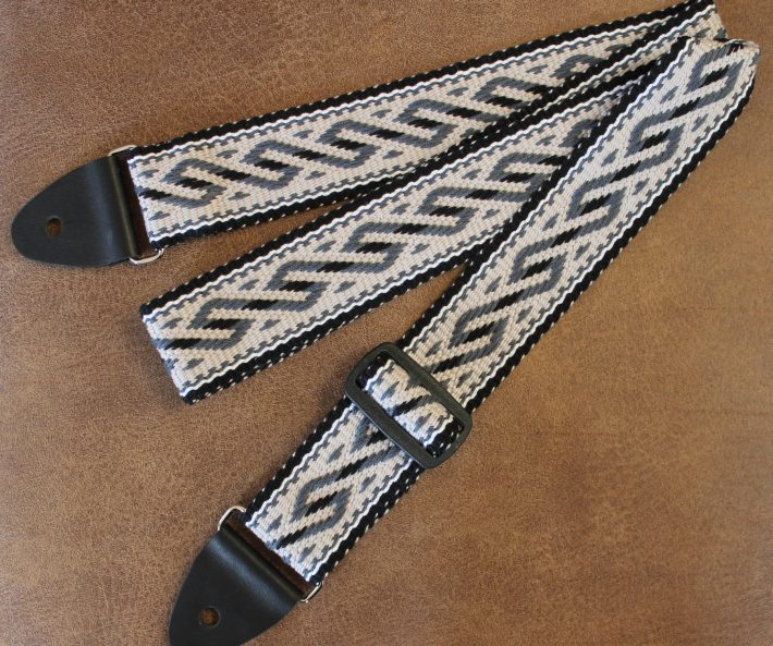 serpent design guitar strap