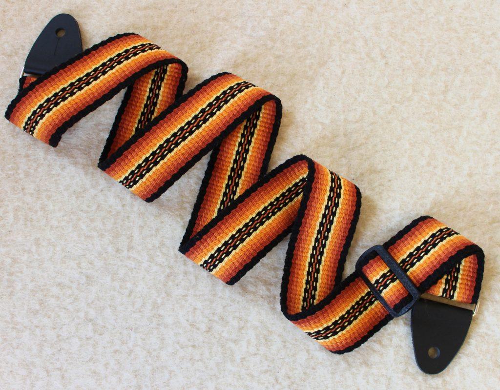 sunburst guitar strap, woven guitar strap, handmade guitar strap, unique guitar strap, custom guitar strap