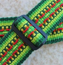 tropical colors guitar strap
