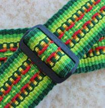 tropical colors guitar strap