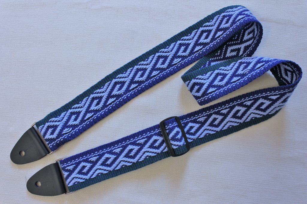 patterned guitar strap