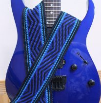 electric blue guitar strap